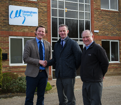L to R: Tom Holland of HollandBuild, Rob Lynch and Phil Weston of Neil Mason Associates